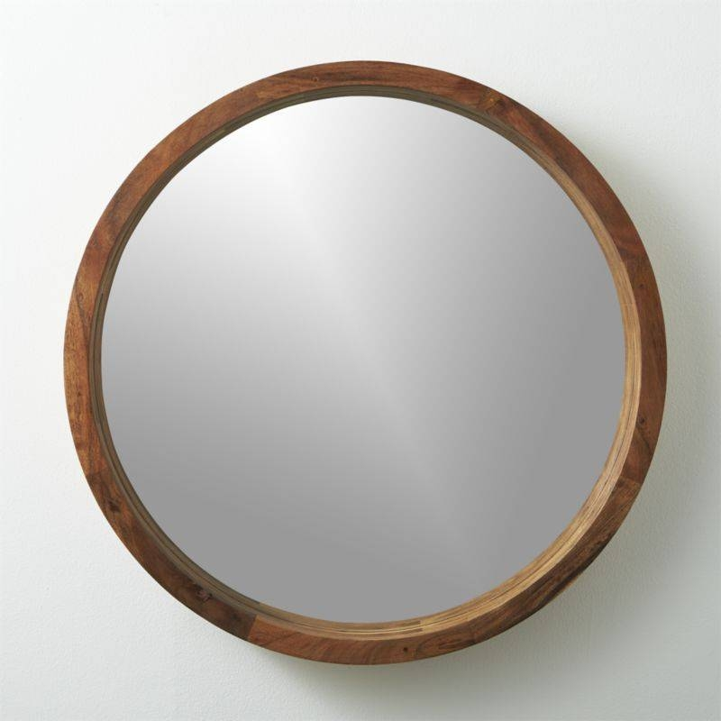 Round Wood Framed Mirror – Round Designs With Round Wood Framed Mirrors (#8 of 15)