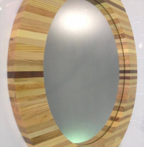 Round Wood Framed Mirror – Round Designs Within Round Wood Framed Mirrors (#9 of 15)