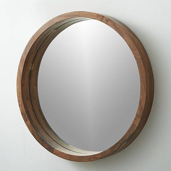 Round Wood Framed Mirrors – Round Designs Throughout Round Wood Framed Mirrors (#10 of 15)