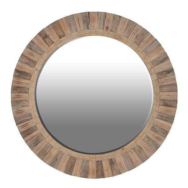 Round Wood Framed Mirrors – Round Designs With Round Wood Framed Mirrors (#11 of 15)