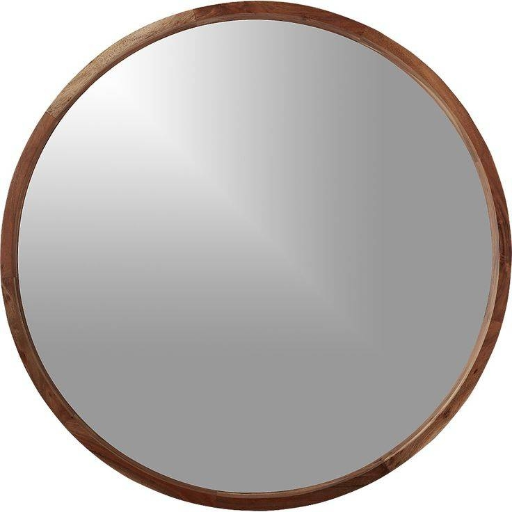 Round Wood Framed Mirrors – Round Designs Within Round Wood Framed Mirrors (#12 of 15)