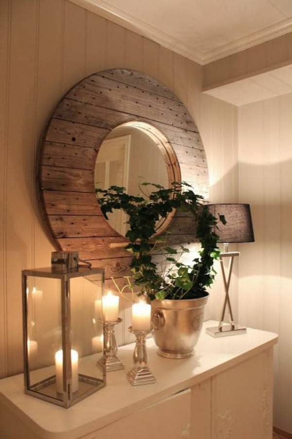 Inspiration about Round Wood Wall Mirror – Round Designs For Rustic Wood Wall Mirrors (#13 of 15)