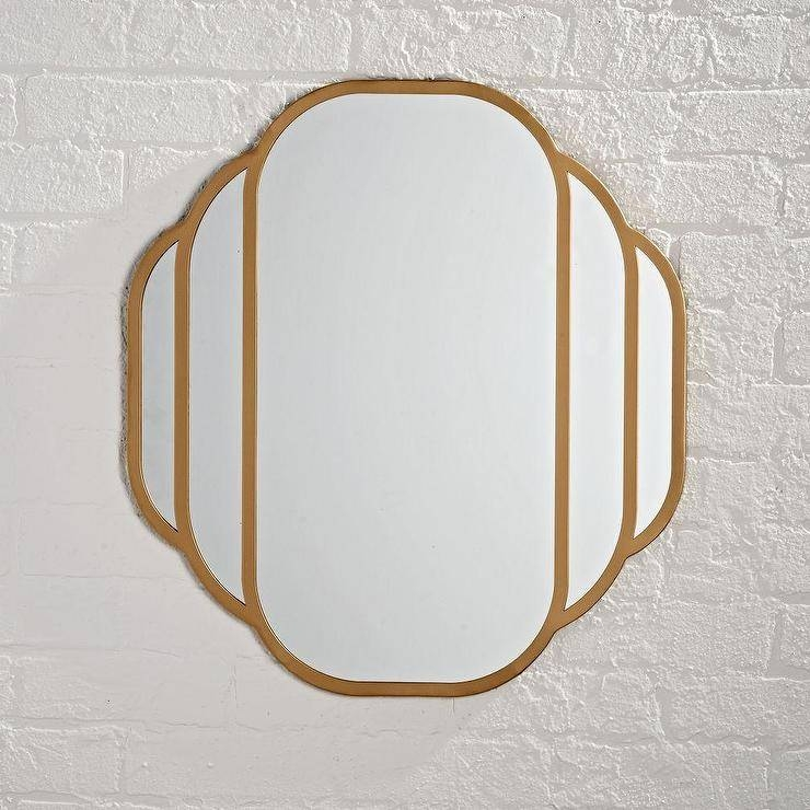 Rounded Edges Art Deco Wall Mirror Throughout Deco Wall Mirrors (#10 of 15)