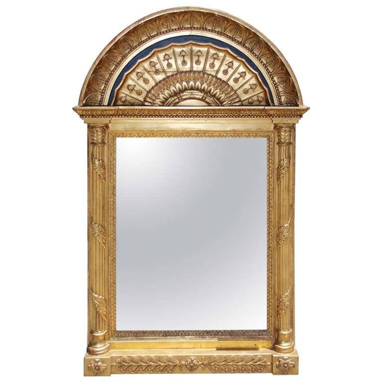 Inspiration about Russian Gilt And Lapis Arched Wall Mirror For Sale At 1Stdibs Intended For Arch Wall Mirrors (#10 of 15)