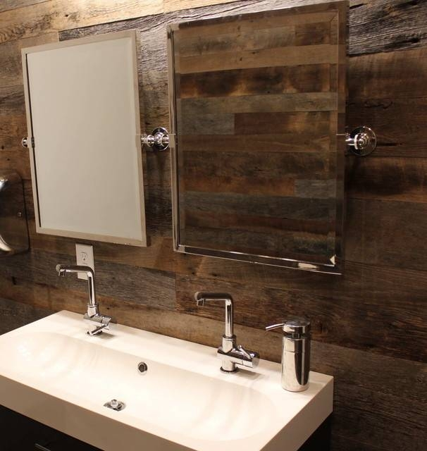 Inspiration about Rustic Commercial Restroom – Mediterranean – Bathroom – Other – Intended For Commercial Bathroom Mirrors (#5 of 15)