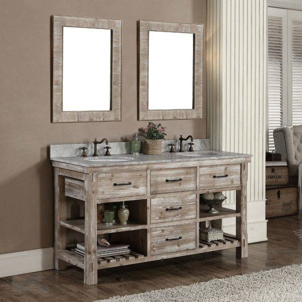 Inspiration about Rustic White Bathroom Vanities Diy Bathroom Vanity Plus Wall For Full Size Wall Mirrors (#15 of 15)