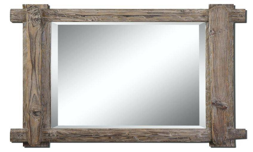 Rustic Wood Framed Wall Mirror Rustic Timber Framed Mirror How To Intended For Timber Mirrors (View 7 of 15)