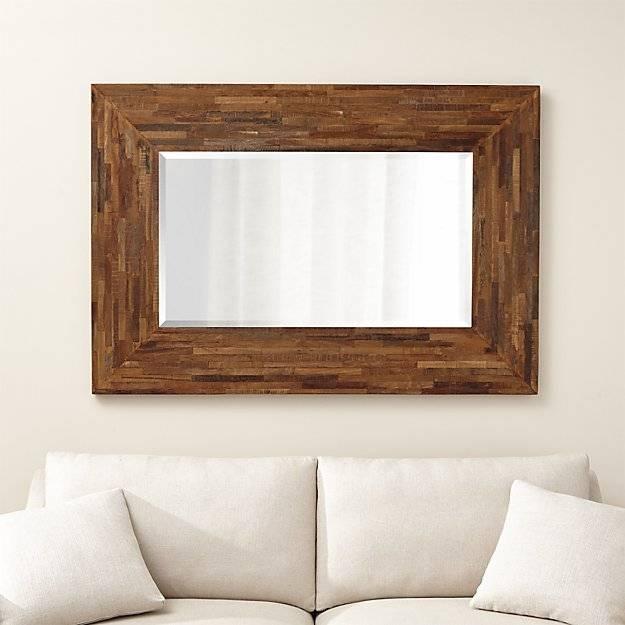 Seguro Natural Wood Wall Mirror | Crate And Barrel Regarding Wooden Wall Mirrors (#11 of 15)