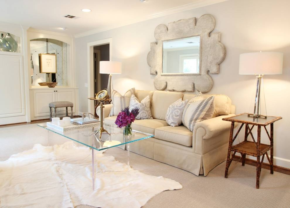 Sensational Large Wall Mirror Decorating Ideas Images In Living Pertaining To Large Living Room Wall Mirrors (#14 of 15)
