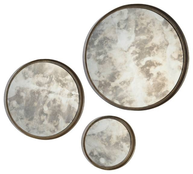 Shire Mirrors, Set Of 3 – Rustic – Wall Mirrors  Renwil Within Wall Mirror Sets Of  (#11 of 15)