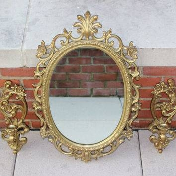 Shop Ornate Gold Mirror On Wanelo Regarding Gold Oval Mirrors (#12 of 15)