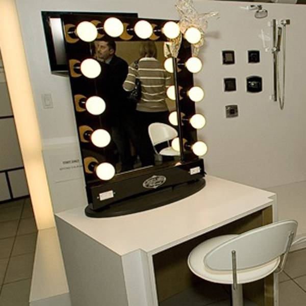 Simple Bathroom With Vanity Mirror Light Bulbs, And Yellow Ball In Wall Mirrors With Light Bulbs (#13 of 15)