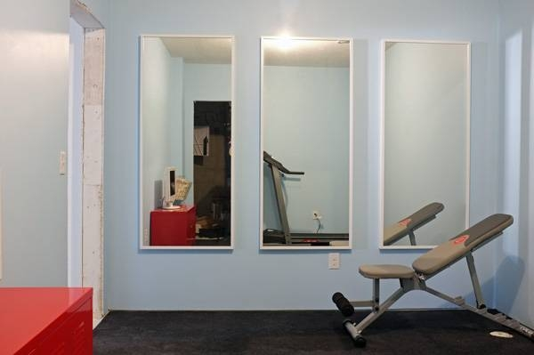 Simple Gym Room Design With Home Progress Gym Wall Mirrors, Three Pertaining To Wall Mirrors For Home Gym (#14 of 15)