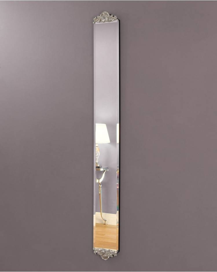 Slim Frameless Venetian Wall Mirror With Regard To Long Narrow Wall Mirrors (View 2 of 15)