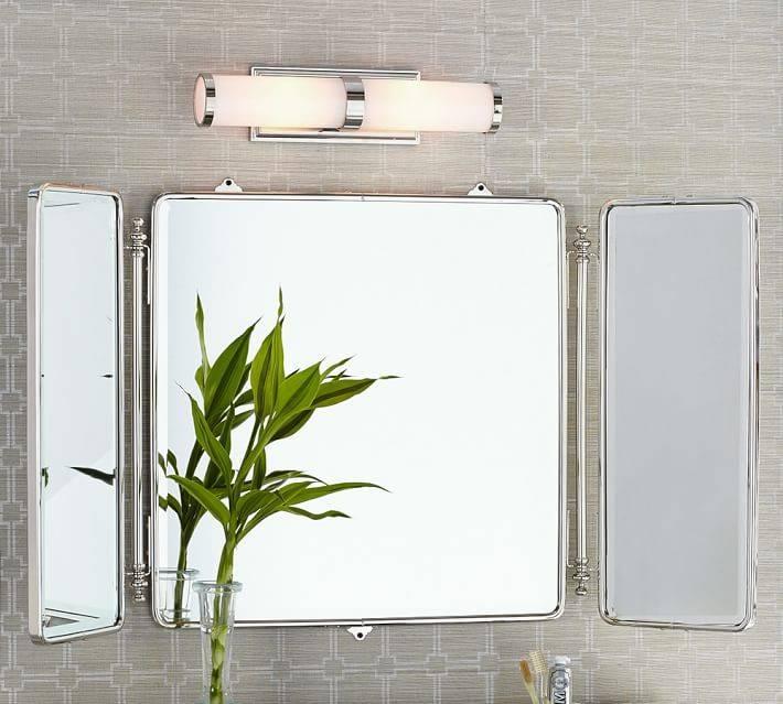 Smartness Ideas Tri Fold Bathroom Mirror On Bathroom Mirror – Home Within Folding Wall Mirrors (#10 of 15)