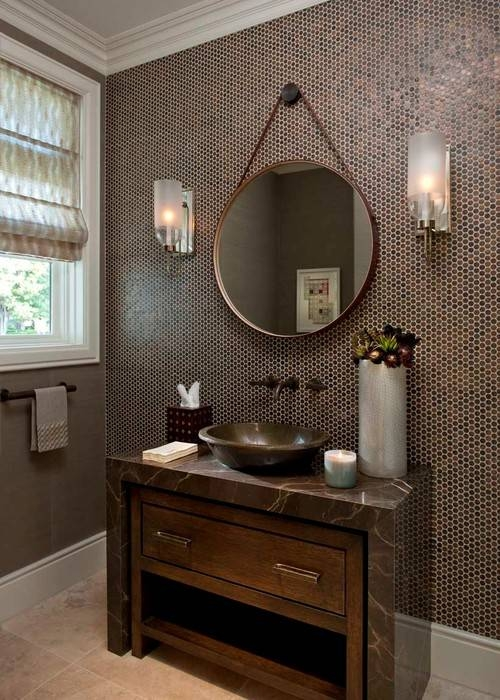 Popular Photo of Hanging Wall Mirrors For Bathroom