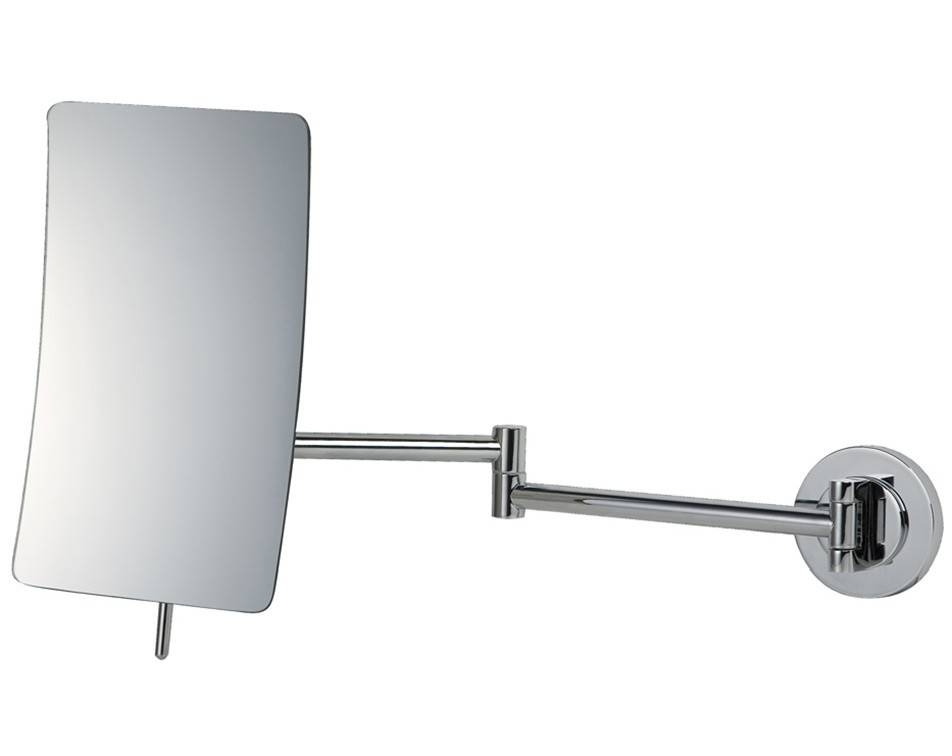 Square 5X Magnifying Wall Mirror | Vanity Mirrors | Splashdirect In Extendable Wall Mirrors (#15 of 15)