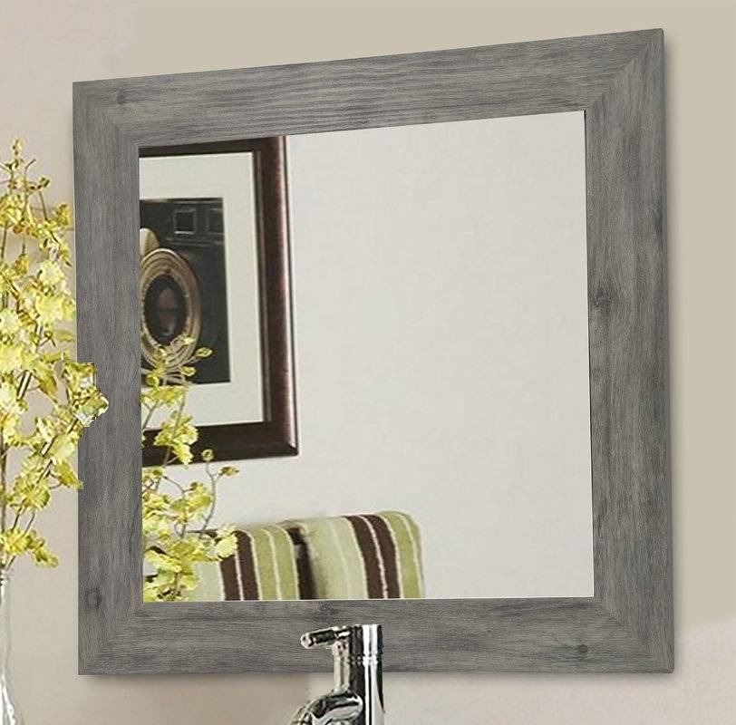 Square Mirrors You'll Love | Wayfair With Regard To Gray Wall Mirrors (#14 of 15)