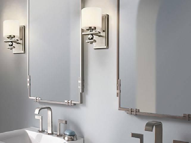 Bathroom Wall Mirrors Brushed Nickel: 15 Photo Of Brushed Nickel Wall Mirror For Bathroom