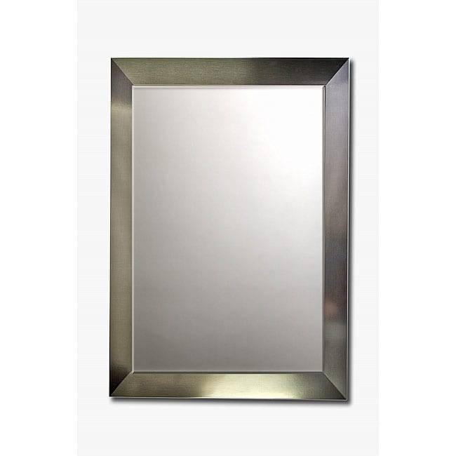 Inspiration about Stainless Steel Framed Beveled Wall Mirror – Free Shipping Today Throughout Stainless Steel Wall Mirrors (#3 of 15)