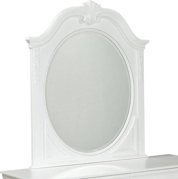 Standard Furniture Jessica Oval Kids' Mirror In White Regarding Standard Wall Mirrors (View 11 of 15)