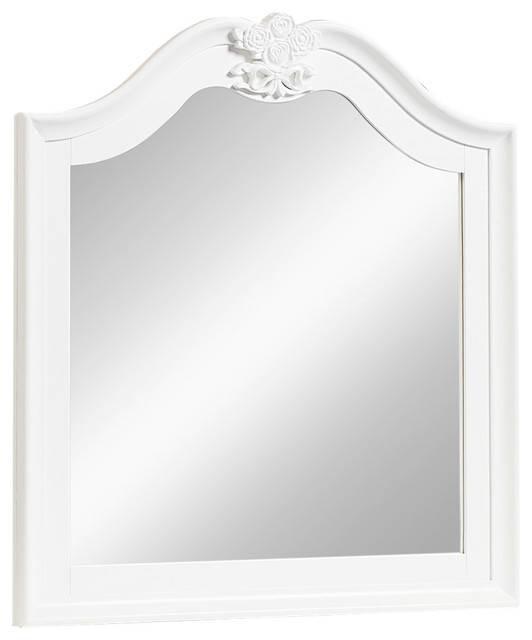 Standard Furniture Olivia Mirror, White 93858 – Traditional – Wall Regarding Standard Wall Mirrors (View 14 of 15)