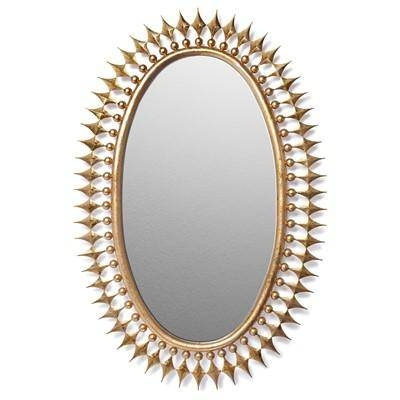 Starburst Spokes Oval Wall Mirror Within Gold Oval Mirrors (#13 of 15)