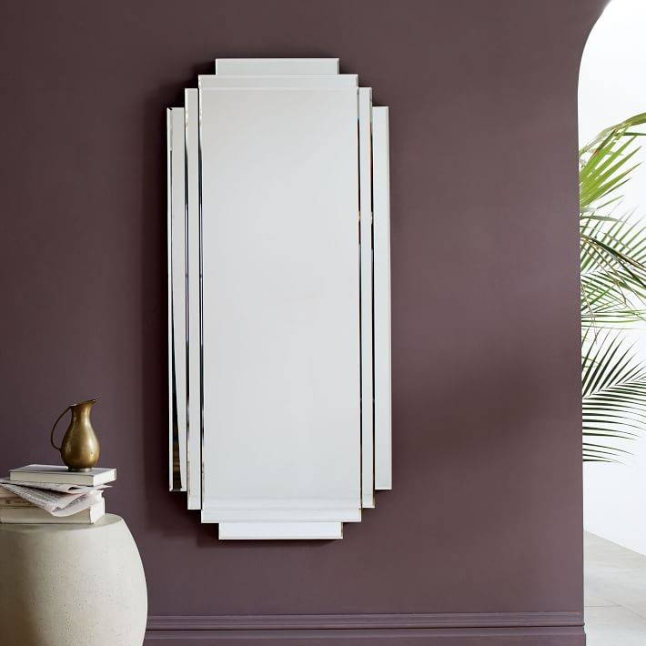 Stepped Wall Mirror | West Elm With Deco Wall Mirrors (#11 of 15)