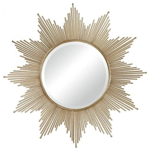 """Sterling Industries Gold Leaf Churchfield Starburst 41"""" Wall With Sunburst Wall Mirrors (View 5 of 15)"""
