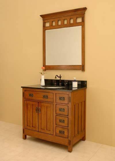 Bungalow Style Bathroom Vanity