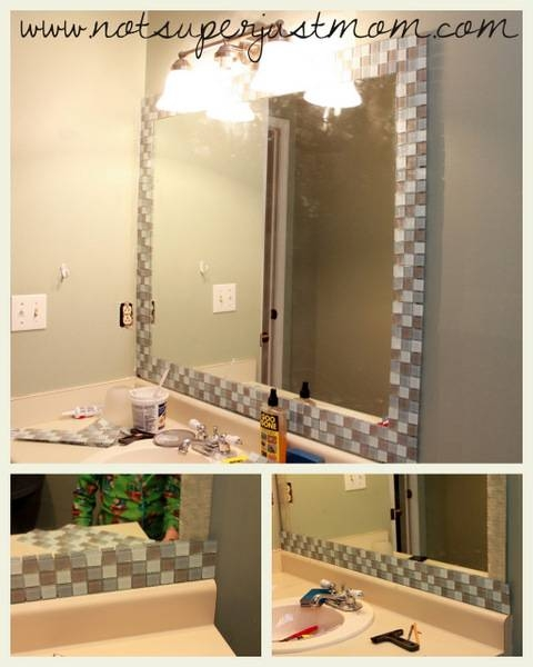 15 collection of stick on wall mirrors - Stick on frames for bathroom mirrors ...