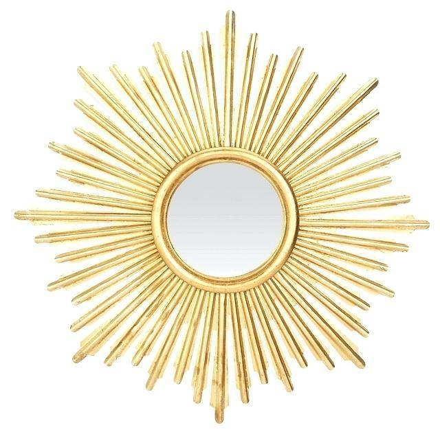 Sunburst Mirror Antique Gold Midcentury Wall Mirrors Finely Yellow Throughout Yellow Wall Mirrors (#13 of 15)