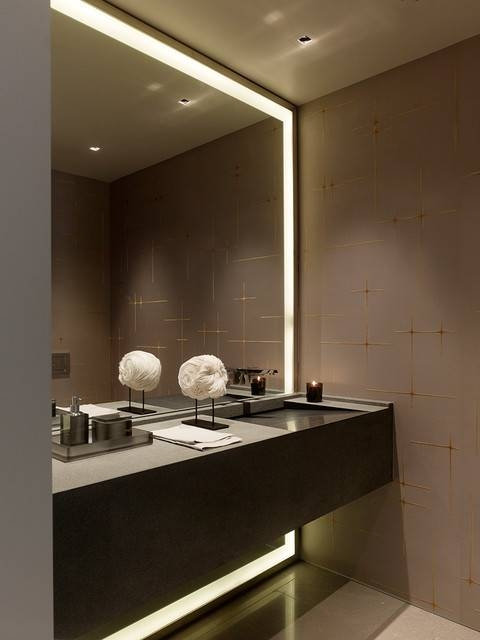 bathroom strip lighting. Taylor Street High Rise Apartment \u2013 Contemporary Bathroom San Pertaining To Led Strip Lights Lighting 1