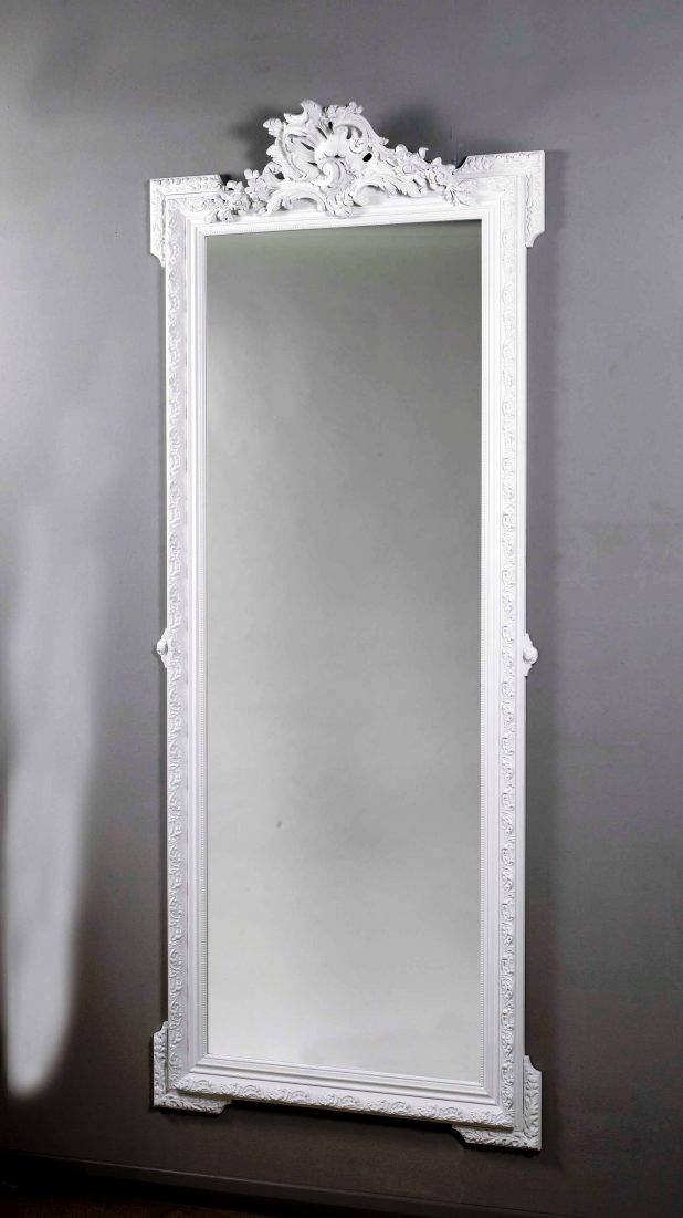 Terrific Wooden Framed Wall Mirrors Style Selections White Oval For White Long Wall Mirrors (View 7 of 15)