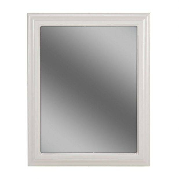 Terrific Wooden Framed Wall Mirrors Style Selections White Oval Inside White Framed Wall Mirrors (View 15 of 15)