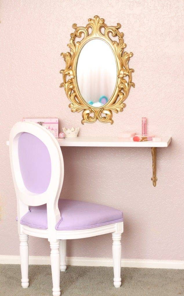 The Land Of Make Believe | Big Girl Rooms, Vanities And Shelves Inside Girls Pink Wall Mirrors (#14 of 15)