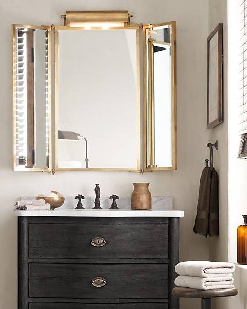 The Most 99 Best Tri Fold Vanity Mirror Images On Pinterest Regarding Tri  Fold Bathroom Mirror Remodel For Tri Fold Bathroom Wall Mirrors (#10 of 15)