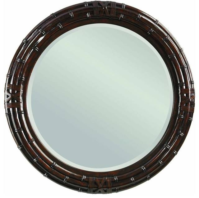 Tommy Bahama Home Island Traditions Newbury Round Mirror Regarding Tropical Wall Mirrors (View 13 of 15)