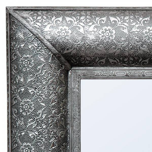 Trade Fair Chaandhi Kar Black Silver Embossed Rectangular Wall In Black And Silver Wall Mirrors (View 7 of 15)