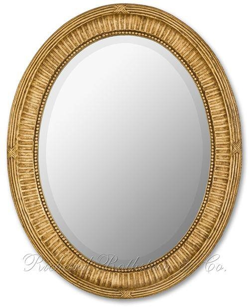 Traditional Gold Oval Mirror From Richard Rothstein Throughout Gold Oval Mirrors (#14 of 15)