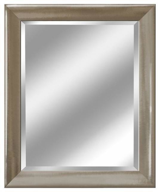 """Transitional Brushed Nickel Mirror, 27.5""""x (#14 of 15)"""