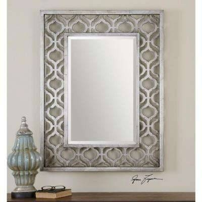 Transitional – Silver Metallic – Rectangle – Mirrors – Wall Decor For Silver Framed Wall Mirrors (View 11 of 15)