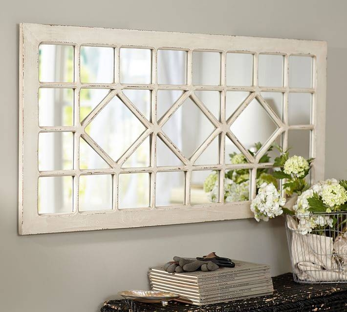Trellis Mirror – Ivory | Pottery Barn Pertaining To Ivory Wall Mirrors (#14 of 15)