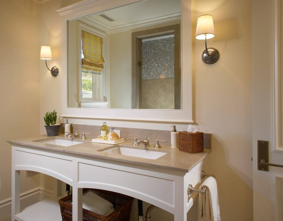 Tremendous Large Framed Bathroom Mirrors Decorating Ideas Images With Frame Bathroom Wall Mirrors (#14 of 15)