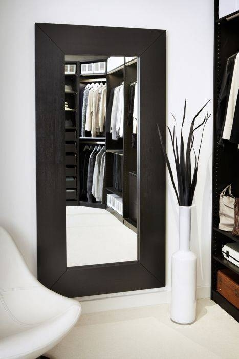 Popular Photo of Large Black Wall Mirrors