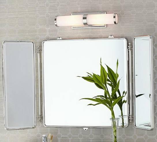 Popular Photo of Tri Fold Bathroom Wall Mirrors