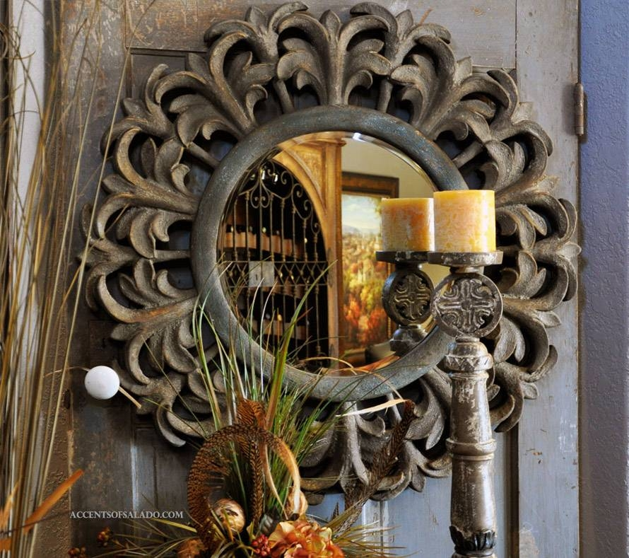 Tuscan Old World Style Mirrors Gabriela Mirror Intended For Tuscan Style Wall Mirrors (#10 of 15)
