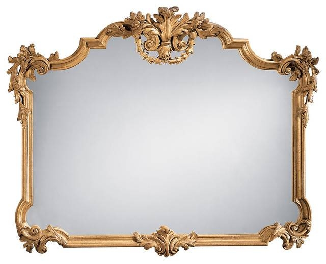 Tuscan Style Horizontal Mirror – Victorian – Wall Mirrors – In Victorian Wall Mirrors (#15 of 15)
