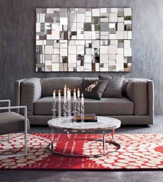 Unique And Stunning Wall Mirror Designs For Living Room Pertaining To Wall Mirror Designs For Living Room (View 2 of 15)