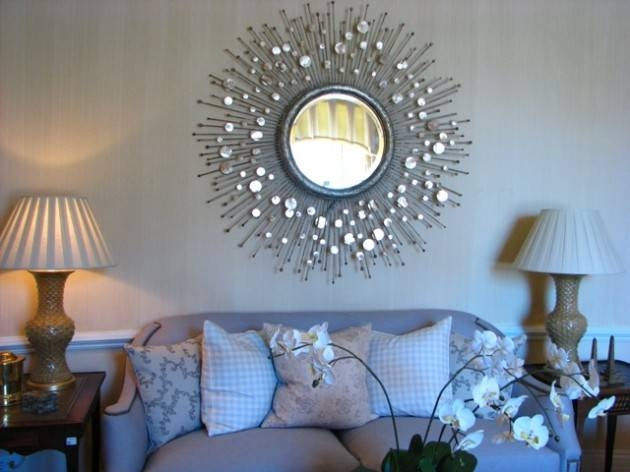 Unique And Stunning Wall Mirror Designs For Living Room Regarding Wall Mirror Designs For Living Room (View 8 of 15)